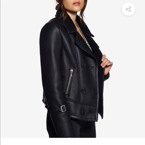Avec Les Filles Jackets & Coats - Vegan Leather Moto Jacket